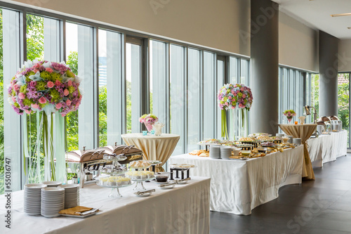 Staande foto Buffet, Bar Buffet line