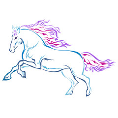 horse is a symbol of 2014 on a white background