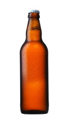 brown glass beer bottle