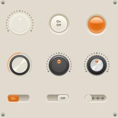 sound dials vector
