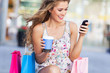 Attractive woman shopping