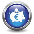 Euro piggy bank icon