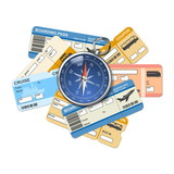 Fototapety Vector compass and tickets