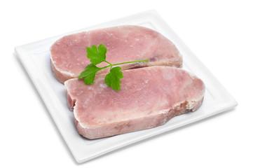 frozen tuna slices
