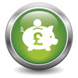 Pound piggy bank icon