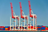 Three Port Cranes