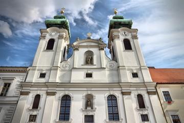 Gyor, Hungary - cathedral facade