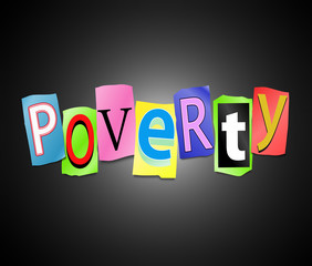 Poverty concept.