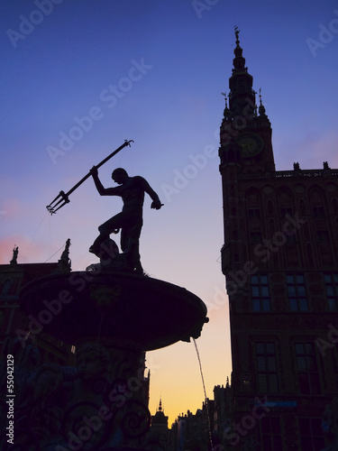 Neptune Fountain in Gdansk, Poland © Karol Kozłowski