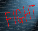 Fight concept.