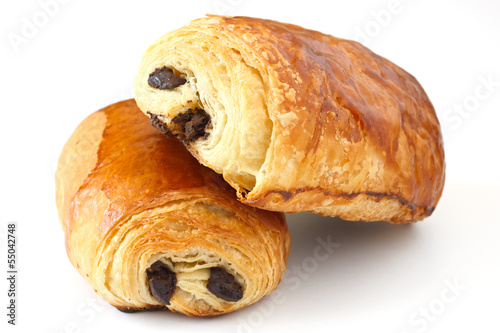 Foto op Canvas Brood Chocolate croissant