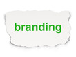 Marketing concept: Branding on Paper background
