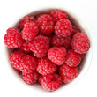Vibrant summer raspberries