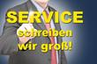 service schreiben wir groß