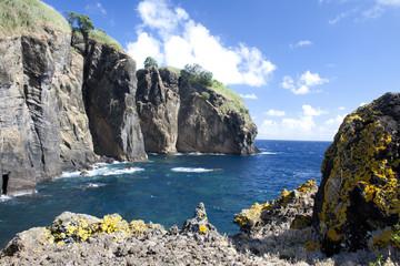 Küstenabschnitt bei Capelas (Azoren)
