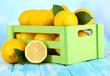 Ripe lemons isolated on white