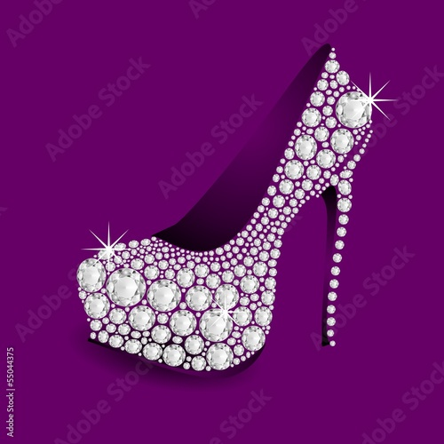 2014 TREND HIGH HEELS DIAMONDS - METRO PURPLE