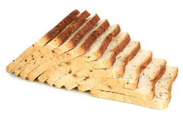 Toast bread, isolated on white