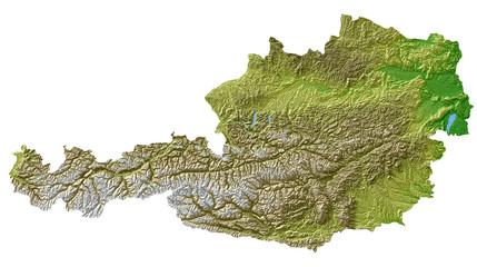 Reliefkarte österreich