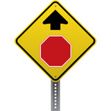 Stop ahead sign