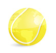 tennis world map ball illustration design