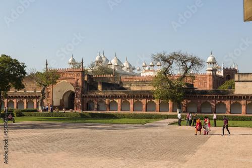 Inner court of the Agra fort