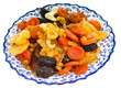 dried fruits on turkish plate