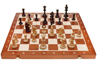 chess game on chessboard