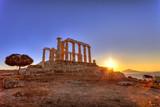 Poseidon Temple ,Cape Sounion, Greece - 55046906