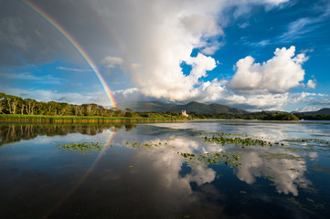 Killarney rainbow reflection