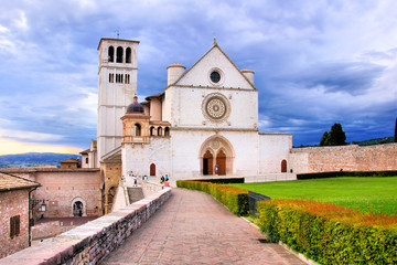 View of the Basilica of St Francis, Assisi, Italy
