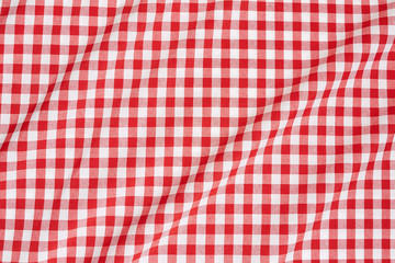 Red and white tablecloth wavy background