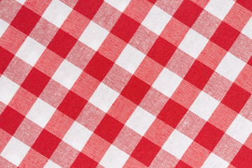 Tablecloth diagonal red and white texture background