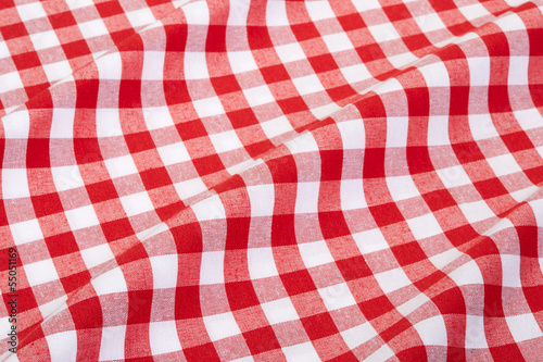 Tablecloth red and white wavy texture background