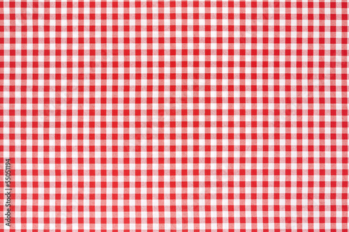 Red and white tablecloth background - 55051194