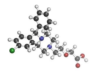 Cetirizine (levocetirizine) antihistamine drug.