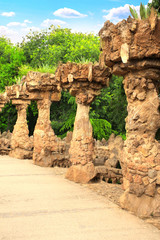 Columns in park Guell, Barcelona