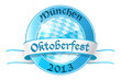 Oktoberfest round banner with ribbon