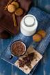 Leinwandbild Motiv Chocolate milk