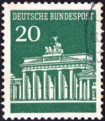 Brandenburg Gate, Berlin (Germany 1966)