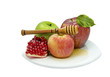 Fruits and honey - traditional food for Rosh Hashanah