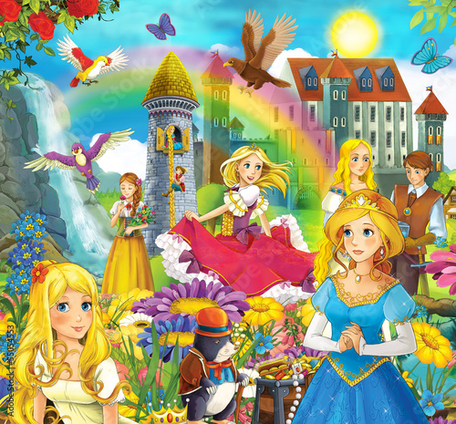 The fairy tales mush up - castles knights fairies - 55054553