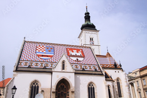 Church of St. Mark, landmark in Zagreb, Croatia