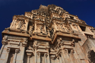 Virupaksha Hindu Temple in Hampi, India.