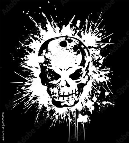 スプラッタと頭蓋骨