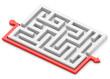 Red path around labyrinth