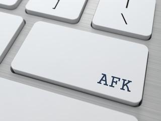 AFK. Internet Concept.