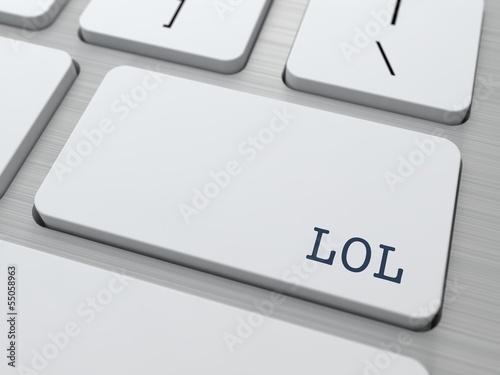 LOL. Internet Concept.