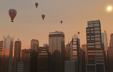 Balloon Skyline