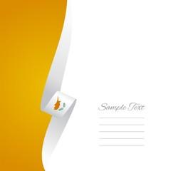 Cypriot left side brochure cover vector